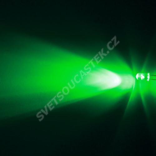 LED 5mm zelená 16000mcd/30° čirá Hebei 530XG2C