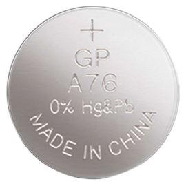 Alkalická gombíková batéria GP LR44 (A76)