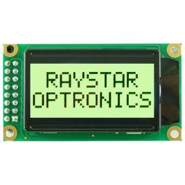 Alfanumerický LCD displej Raystar RC0802A-YHW-ESV