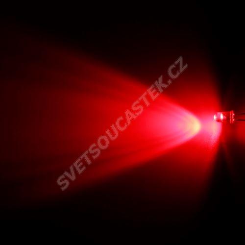 LED 5mm červená 4000mcd/65° čirá Hebei 560PR2C