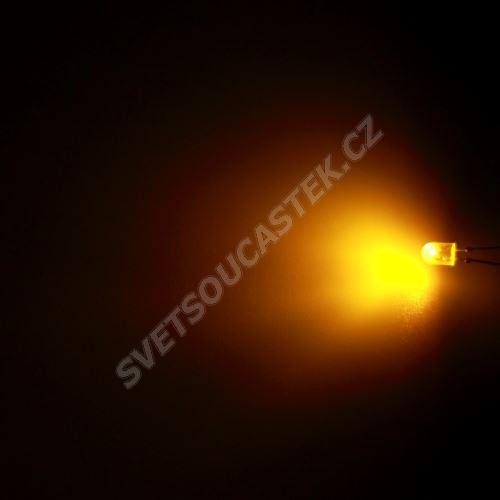 LED oválná 5,2x3,8mm žlutá 770mcd/(110/50°) difúzní Hebei 7511MY8D-SB