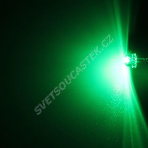 LED 4,8mm zelená 550mcd/170° čirá Hebei 412PG2C