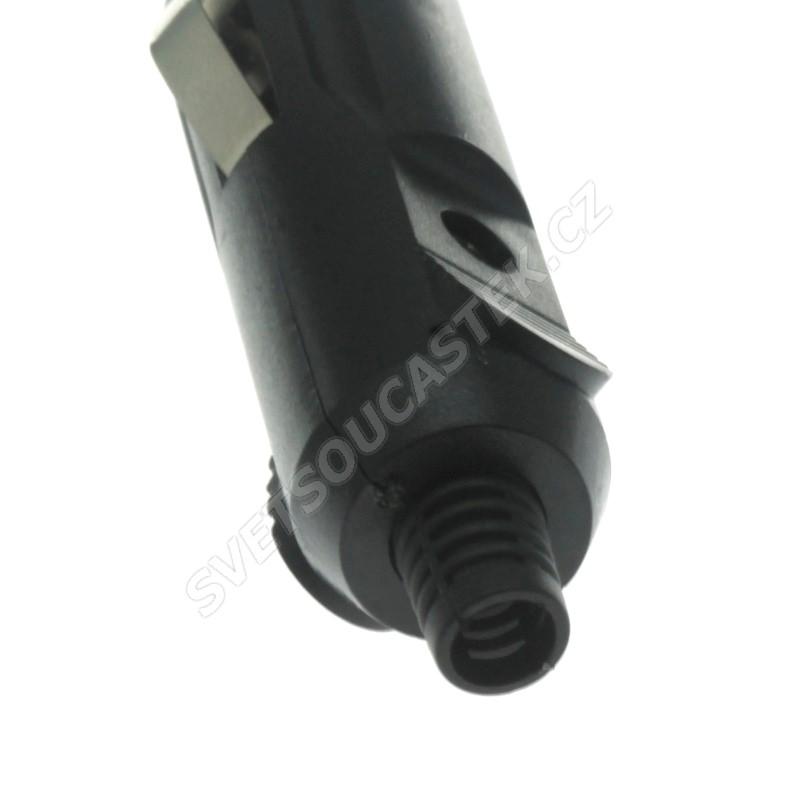 Napájecí vidlice autozapalovače přímá s pojistkou 5A a LED CAR-021